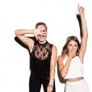 Emily Bett Rickards and Willa Holland
